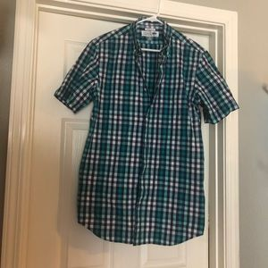Men's Old Navy size M classic shirt checked teal
